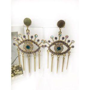 Evil Eye Glam Earrings